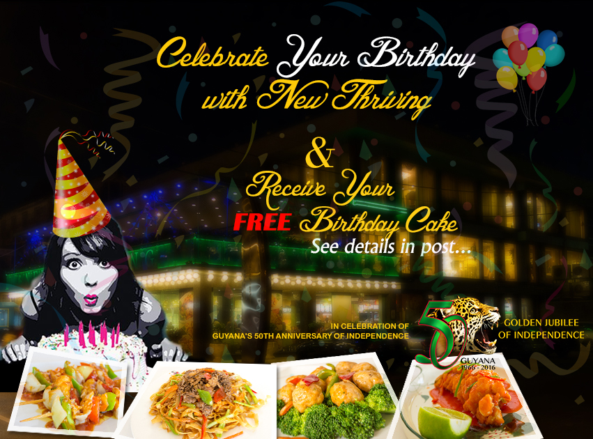 Celebrate your birthday with New Thriving and get a FREE